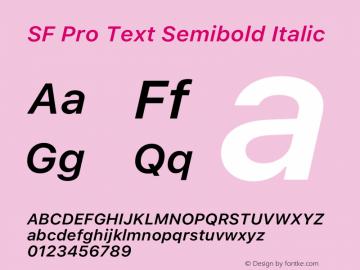SF Pro Text Semibold Italic Version 16.0d12e3图片样张
