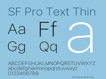 SF Pro Text Thin Version 16.0d12e3图片样张