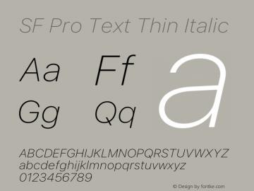 SF Pro Text Thin Italic Version 16.0d12e3图片样张