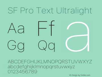 SF Pro Text Ultralight Version 16.0d12e3图片样张