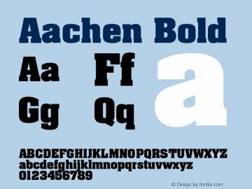 Aachen Bold Version 001.001 Font Sample