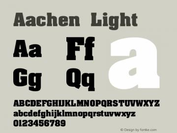 Aachen Light Version 001.000 Font Sample