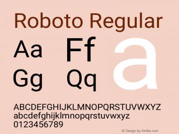 Roboto Version 2.001101; 2014图片样张