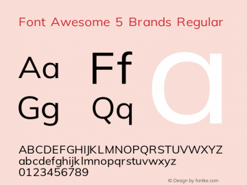 Font Awesome 5 Brands Regular 331.008 (Font Awesome version: 5.13.0)图片样张