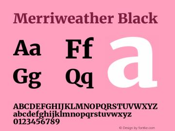 Merriweather Black Version 2.100;hotconv 1.0.109;makeotfexe 2.5.65596图片样张