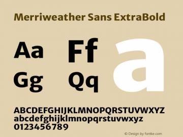 Merriweather Sans ExtraBold Version 2.001 Font Sample
