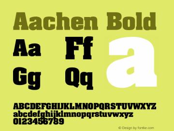 Aachen Bold Version 001.003 Font Sample