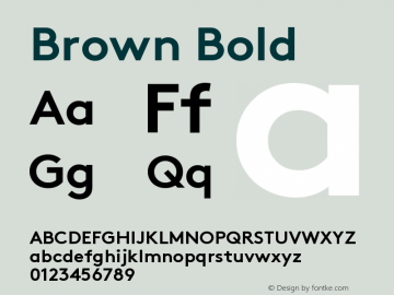 Brown-Bold Version 001.001图片样张