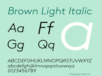Brown-LightItalic Version 001.001图片样张