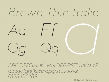 Brown-ThinItalic 001.000图片样张