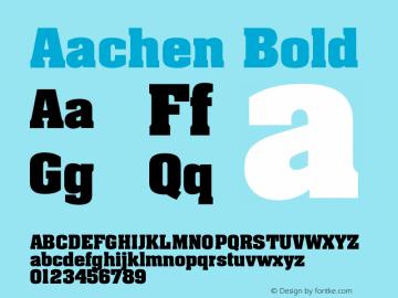 Aachen Bold Version 001.002 Font Sample