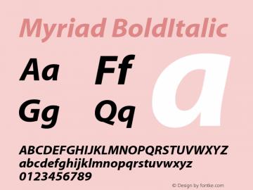 Myriad    BoldItalic Fontographer 4.7 4/18/08 FG4M0000001208图片样张