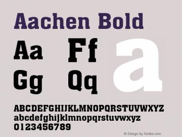 Aachen Bold 1.0 Font Sample
