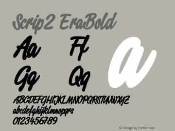 Script2 ExtraBold Macromedia Fontographer 4.1.3 11.08.2001 Font Sample