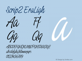Script2 ExtraLight Macromedia Fontographer 4.1.3 11.08.2001 Font Sample