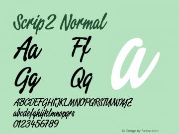 Script2 Normal Macromedia Fontographer 4.1.3 11.08.2001 Font Sample
