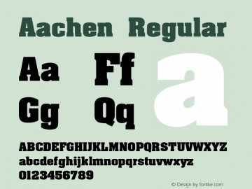 Aachen Regular 001.000 Font Sample