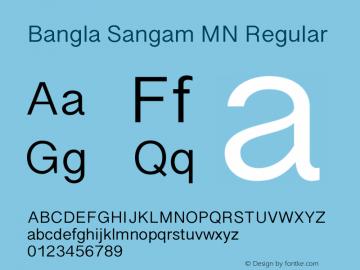 Bangla Sangam MN 14.0d1e1 Font Sample