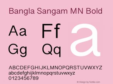 Bangla Sangam MN Bold 14.0d1e1 Font Sample