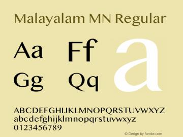 Malayalam MN 14.0d1e6图片样张