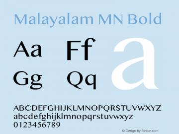 Malayalam MN Bold 14.0d1e6图片样张