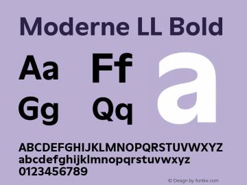 ModerneLL-Bold Version 3.000; build 0003图片样张