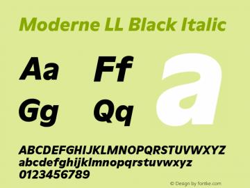 ModerneLL-BlackItalic Version 3.000; build 0003图片样张