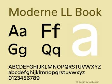 ModerneLL-Book Version 3.000; build 0003图片样张
