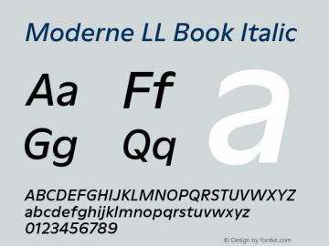 ModerneLL-BookItalic Version 3.000; build 0003图片样张