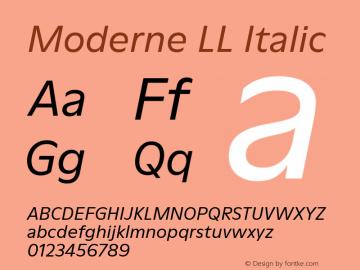 ModerneLL-Italic Version 3.000; build 0003图片样张