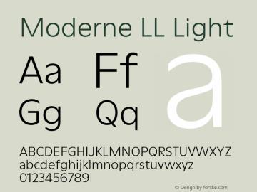 ModerneLL-Light Version 3.000; build 0003图片样张