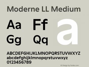 ModerneLL-Medium Version 3.000; build 0003图片样张
