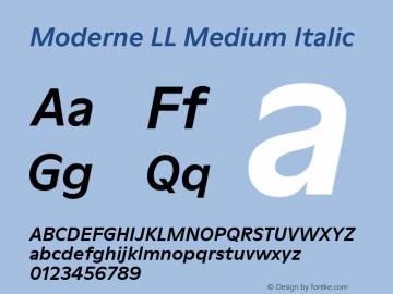 ModerneLL-MediumItalic Version 3.000; build 0003图片样张