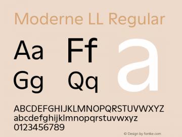 ModerneLL-Regular Version 3.000; build 0003图片样张