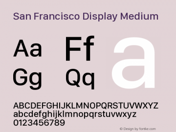 San Francisco Display Medium 10.0d27e2--BETA图片样张