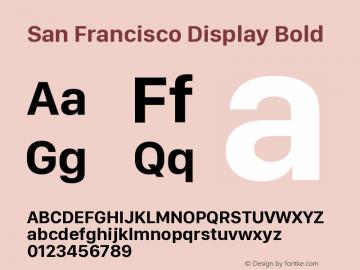 San Francisco Display Bold 10.0d27e2--BETA图片样张