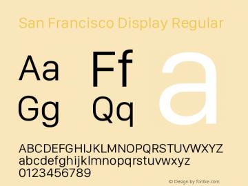 San Francisco Display Regular 10.0d27e2--BETA图片样张
