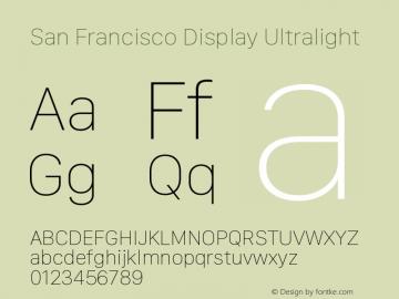 San Francisco Display Ultralight 10.0d27e2--BETA图片样张