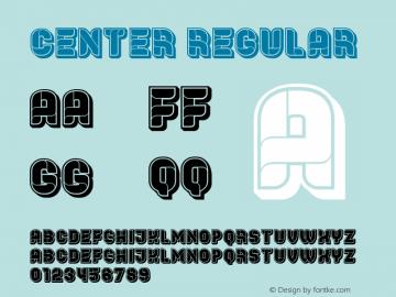 Center Regular Version 1.000图片样张