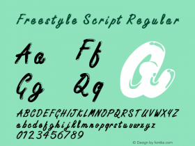 Freestyle Script Regular Version 0.0图片样张