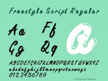 Freestyle Script Regular Version 0.0 Font Sample