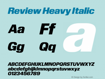 Review-HeavyItalic Version 1.001 2020 | wf-rip DC20201005图片样张
