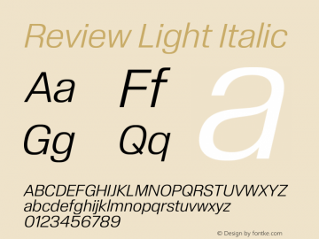 Review-LightItalic Version 1.001 2020 | wf-rip DC20201005图片样张