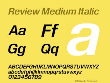Review-MediumItalic Version 1.001 2020 | wf-rip DC20201005图片样张