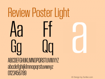 Review Poster Light Version 1.001 2020 | wf-rip DC20201005图片样张