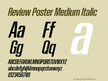 Review Poster Medium Italic Version 1.001 2020 | wf-rip DC20201005图片样张
