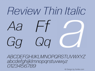Review-ThinItalic Version 1.001 2020 | wf-rip DC20201005图片样张