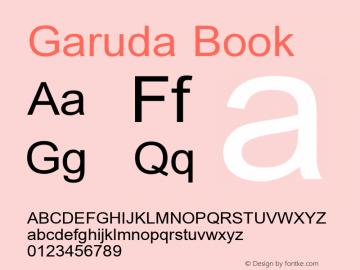 Garuda Book Version 2.63: 2010-08-01 Font Sample