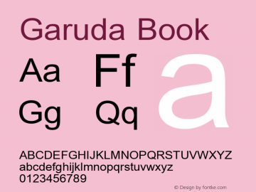 Garuda Book Version 3.00: 2014-03-17 Font Sample