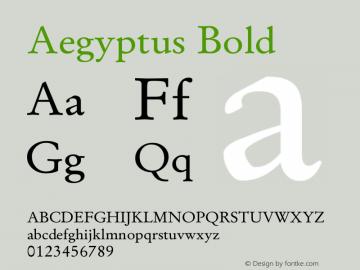 Aegyptus Bold Version 13.00图片样张